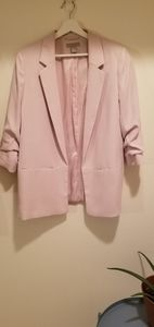 H&M light pink 3/4 sleeve blazer